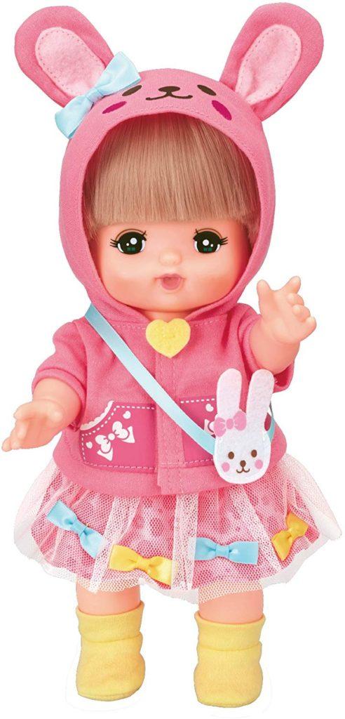 メルちゃんの服・ピンクのうさぎさんパーカー