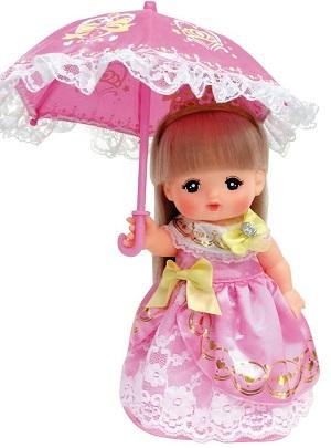 メルちゃんの服・お姫様ドレスと傘セット