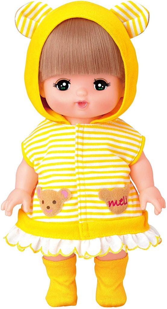 メルちゃんの服・黄色のくまさんパーカー