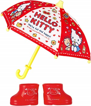 メルちゃんの服・ハローキティの傘