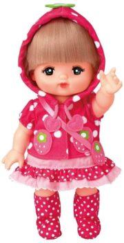 メルちゃんの服・ピンクのいちごパーカー