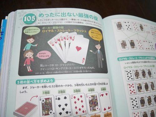 算数図鑑でトランプのポーカーの解説ページ