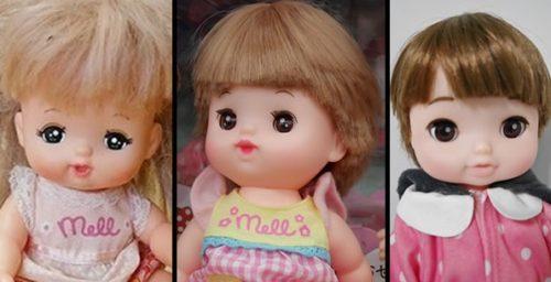 メルちゃんとネネちゃんとレミンちゃんの顔を比較