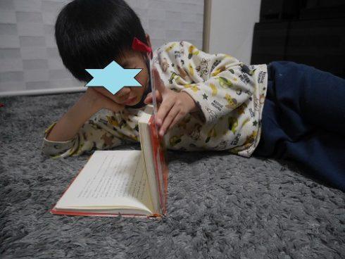 ダレンシャンの6巻を読み返す小学生男の子