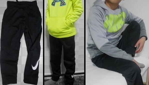 小学生男子のスポーツブランド服のコーデ