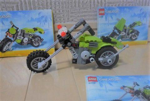 レゴクリエイターのバイク