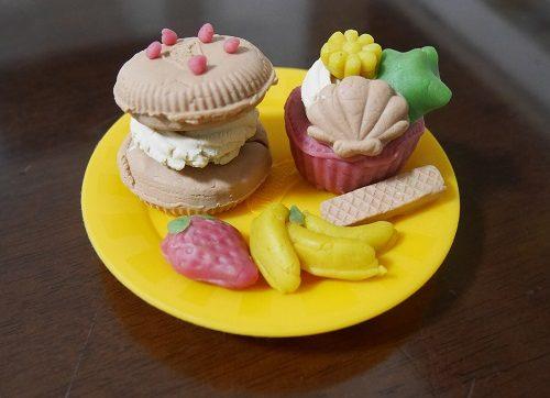5歳の娘と親でつくったねんどのスイーツお菓子