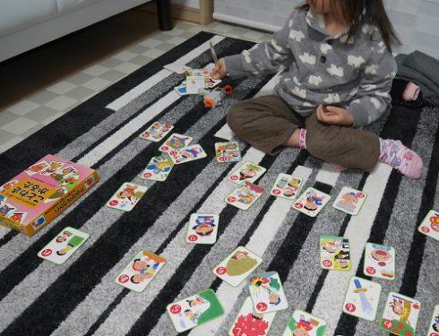 ことわざカルタで遊ぶ、当時4歳の娘