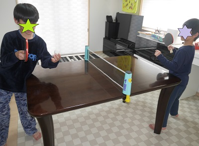 家の中でできる卓球セット