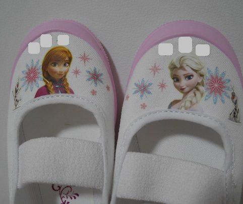 アナと雪の女王の上履きのイラスト