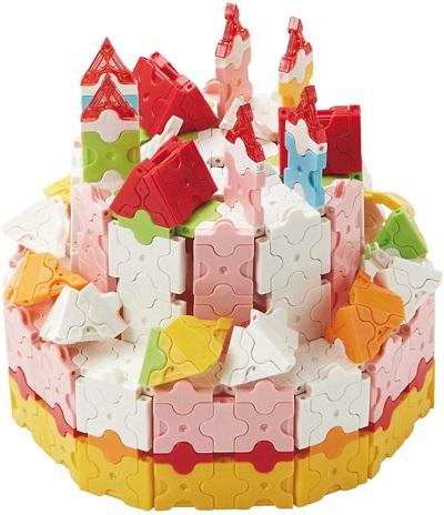 ラキューのスイーツセットでケーキの作品