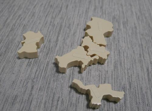 くもんの日本地図パズルの発展ピース