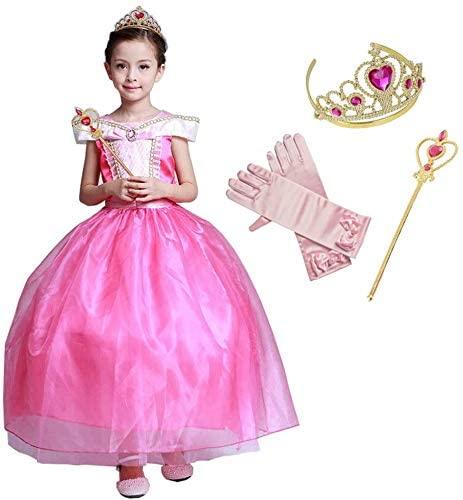 女の子のピンクのドレスセット