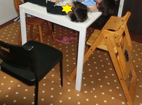 子供用いすの木製ハイチェアのサイズ感