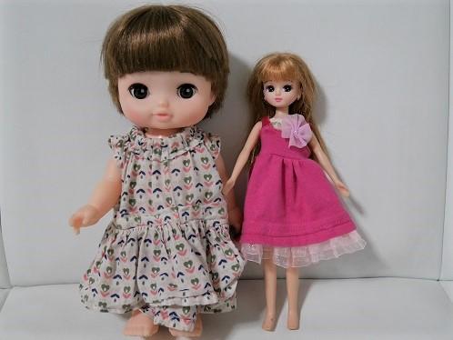 レミンちゃんとリカちゃん人形のサイズを比較