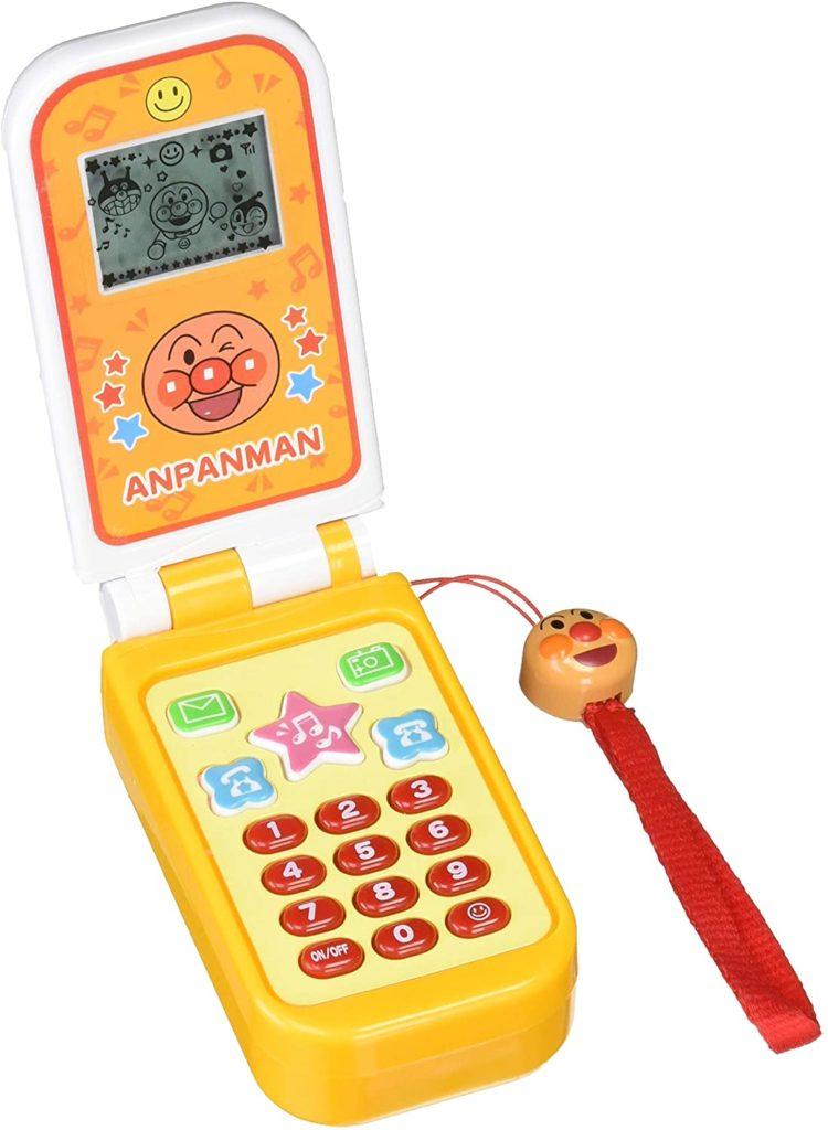アンパンマンのガラケータイプの携帯のおもちゃ