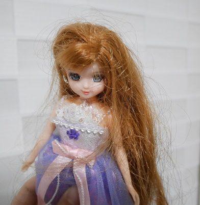 ジュエルアップかれんちゃんの髪の毛がぐしゃぐしゃになっているところ
