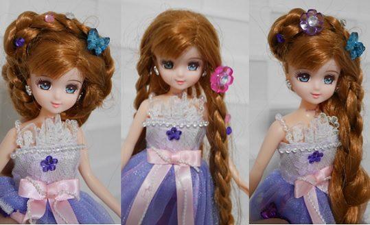 ジュエルアップかれんちゃんの三つ編みベースのヘアアレンジ