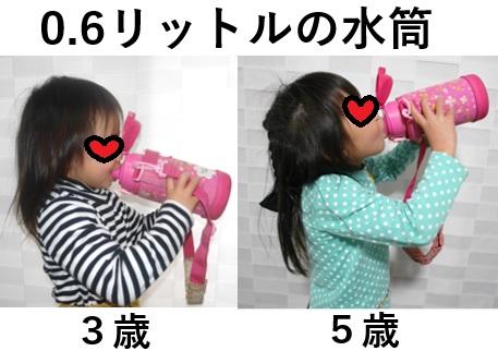 0.6リットルの子供用水筒のサイズ感と選び方