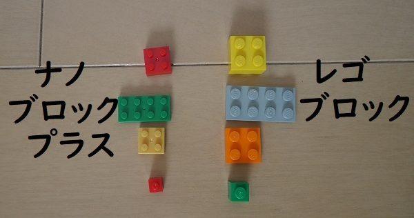 ナノブロックプラスとレゴブロックの違いを比較