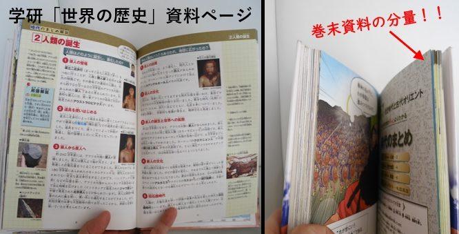 学研の「世界の歴史」漫画の巻末資料の内容とページの多さ